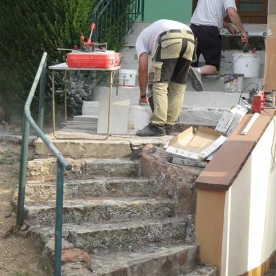 Rénovation escalier externe