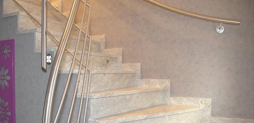 Carrelage spizzo escalier